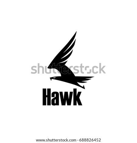 Hawk Icon Symbol Eagle Hawk Predator Stock Vector 688826452
