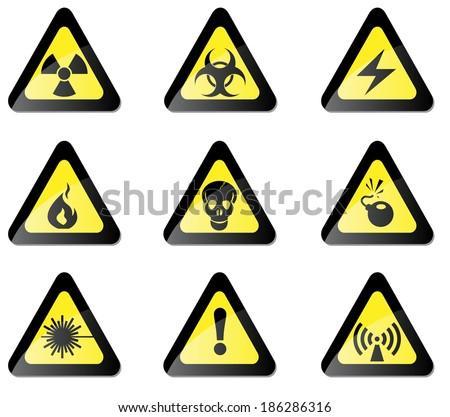 Hazard Sign - stock vector