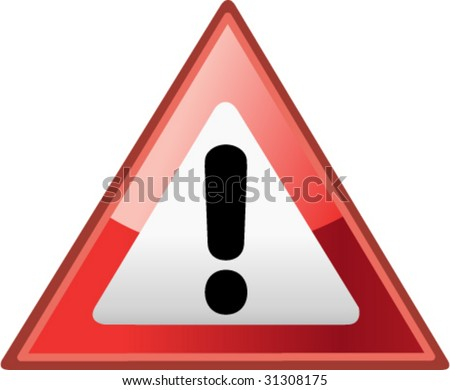 Hazard Sign / Icon - Vector Illustration - stock vector