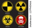 Hazard Symbols - stock photo
