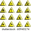 Hazard Symbols 1 - stock vector