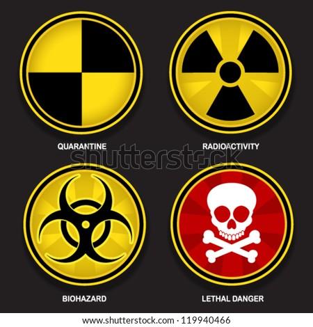 Hazard Symbols - stock vector