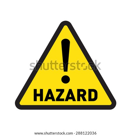hazard vector sign
