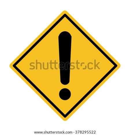 Hazard warning  - stock vector
