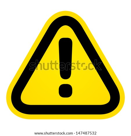 Hazard warning attention sign - stock vector