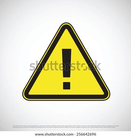 Hazard warning sign - stock vector