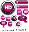 HD fuchsia signs. - stock vector