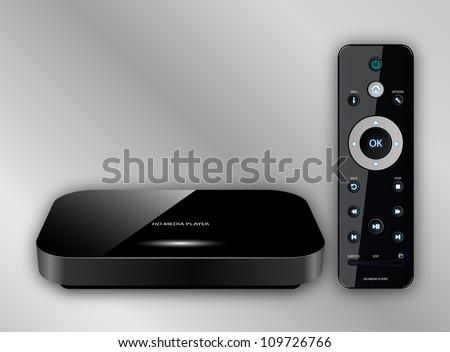 HD Media Player, Vector illustration - stock vector