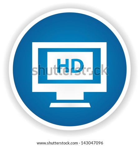 HD monitor symbol,vector - stock vector