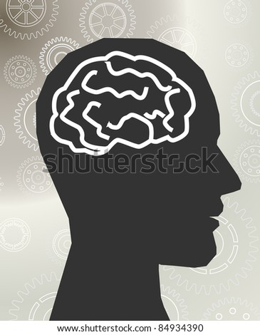 head brain vector - stock vector