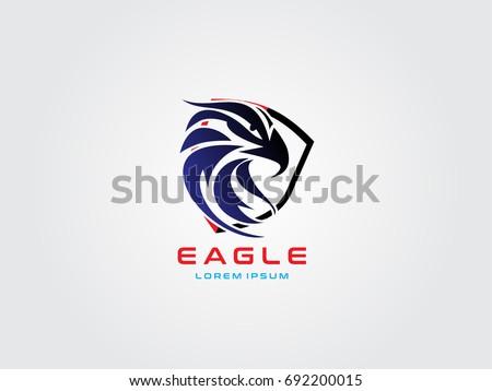 head eagle shield logo stock photo photo vector illustration rh shutterstock com Eagle Shield Badge blue eagle shield logo name