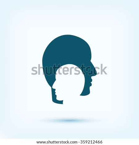 head , icon. Vector
