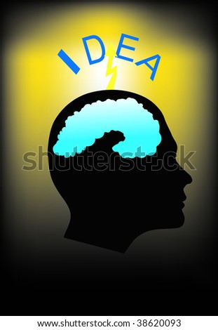 head idea - stock vector