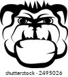 head of bulldog - stock vector