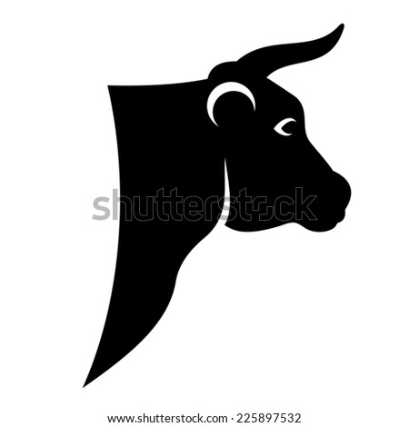 Head of cow or bull, vector illustration for your design - stock vector