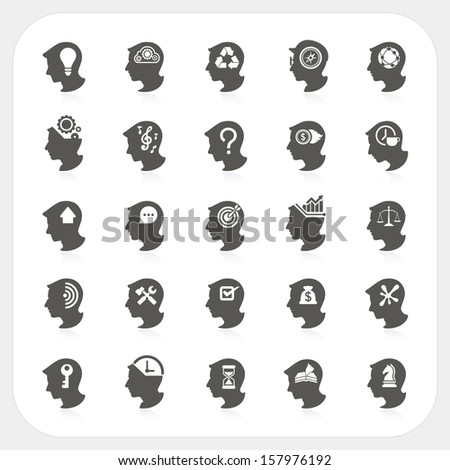 Head of person thinking Business and finance concept, Vector - stock vector
