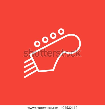 Head of the guitar line icon. - stock vector
