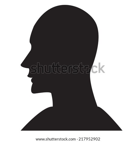 head silhouette vector design