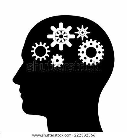 Head Silhouette With Gears Stock Images, Royalty-Free ...