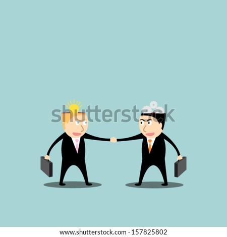 Head vector idea concept / business concept  - stock vector