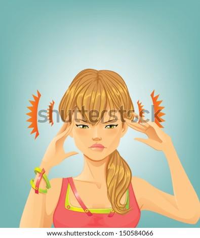 Headache - stock vector