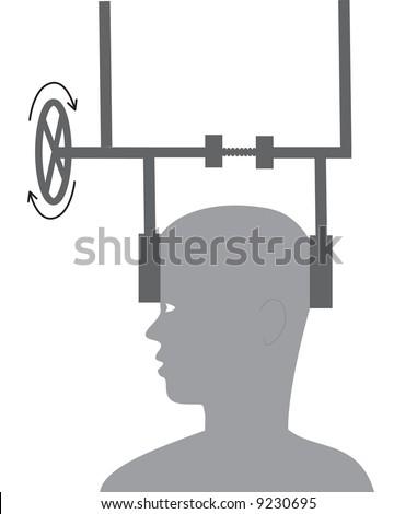 Headache, abstract vector illustration - stock vector