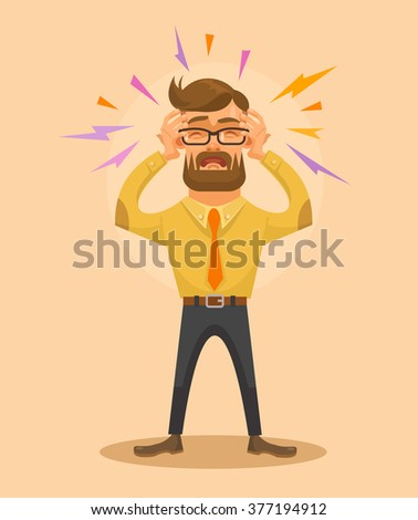 Headache. Vector flat illustration - stock vector