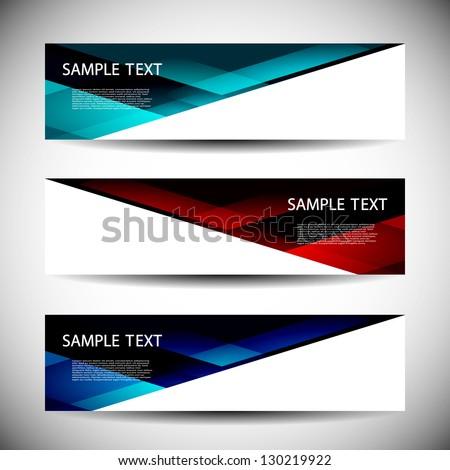 Header Designs - stock vector