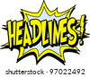 headlines - stock vector