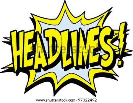 headlines - stock vector