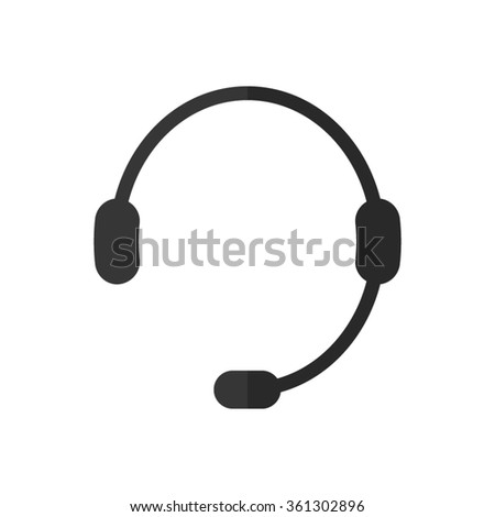 Headphone for support -  vector icon