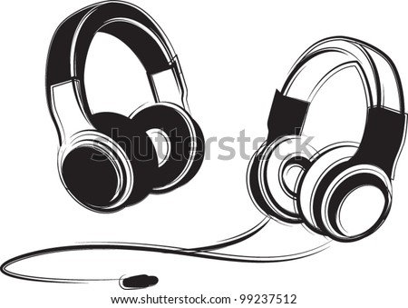Beats Headphones Clip Art Headphones - stock vector