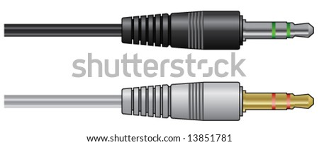 Headphones connector - stock vector