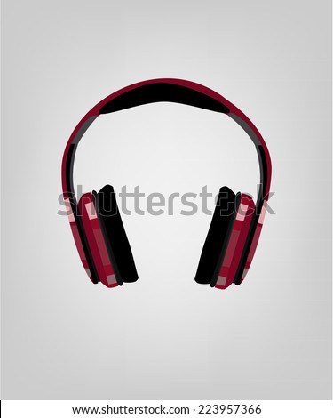 Headphones, earphones, headphones icon, headphones isolated - stock vector