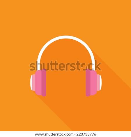 Headphones icon - Vector - stock vector