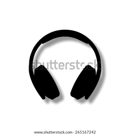 Headphones  - vector icon with shadow