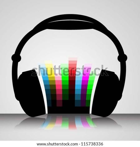 Headphones Vector Illustration - stock vector