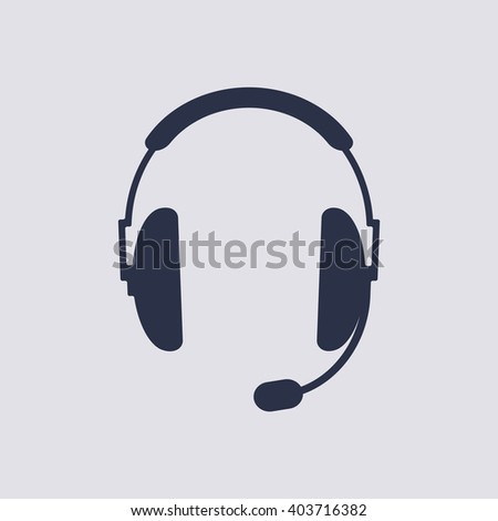 headphones with microphone Icon Vector. headphones with microphone Icon JPEG. headphones with microphone Icon Object. headphones with microphone Icon Picture. headphones with microphone Icon Image.  - stock vector