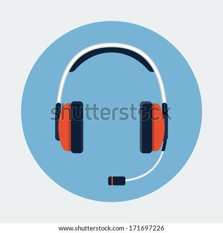 Headset icon - stock vector