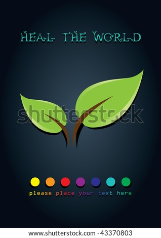 heal the world poster design. - stock vector