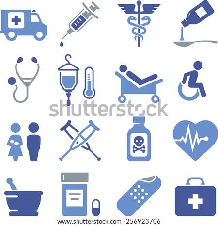 Health and Medical icon set.