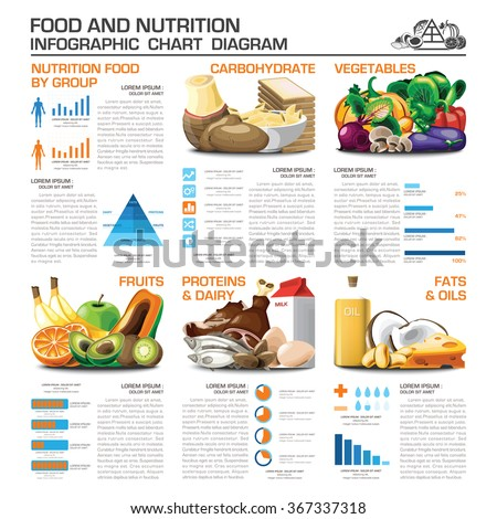 health nutrition food by group infographic stock vector 367337318 shutterstock. Black Bedroom Furniture Sets. Home Design Ideas