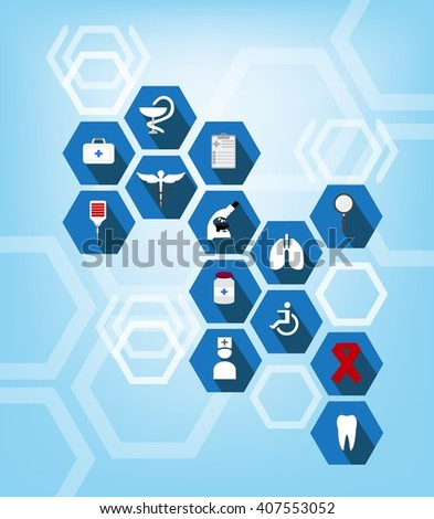 health care and medical icon abstract background