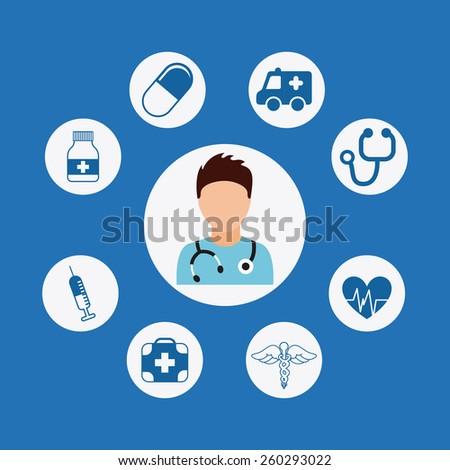 health care design, vector illustration eps10 graphic  - stock vector