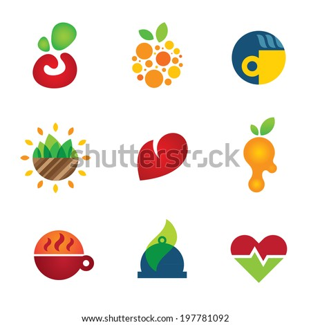 Health care medical food kitchen solutions perfect start up company logo - Stock Illustration - stock vector