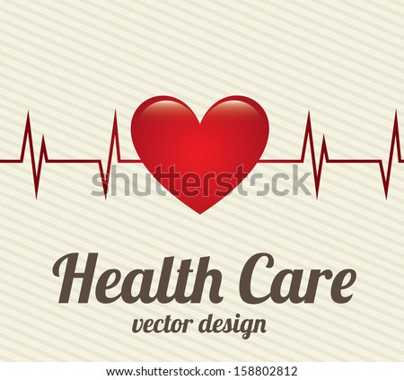 health care  over lineal background vector illustration  - stock vector