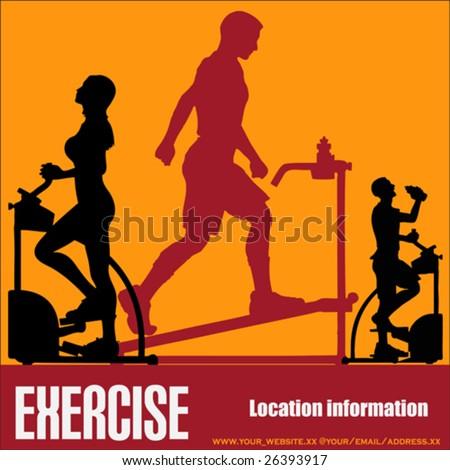 Health Club/Gymnasium Exercising Vector Flyer - stock vector