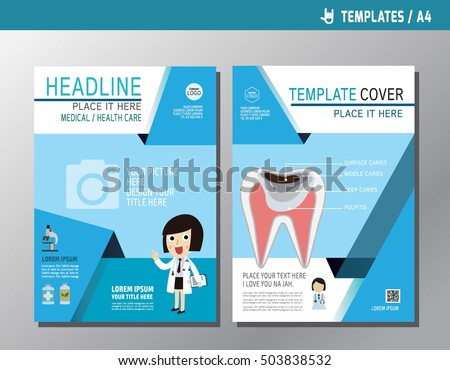 Health Flyer Leaflet Brochure Template A Stock Vector Hd Royalty