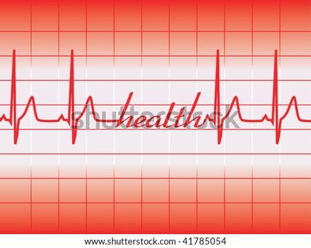 health graph vector - stock vector