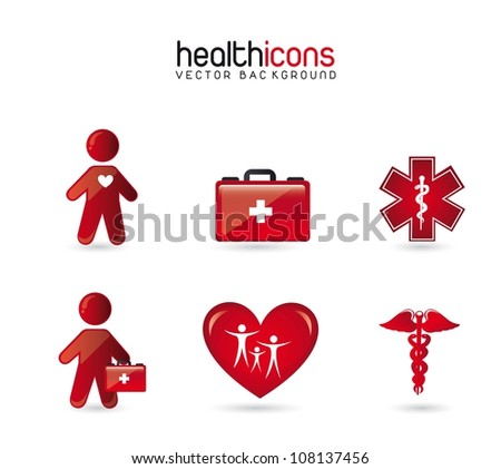 health icons  over white background. vector illustration - stock vector